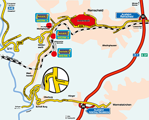 Directions to Plant 3 in RemscheidVieringhausen Your route to