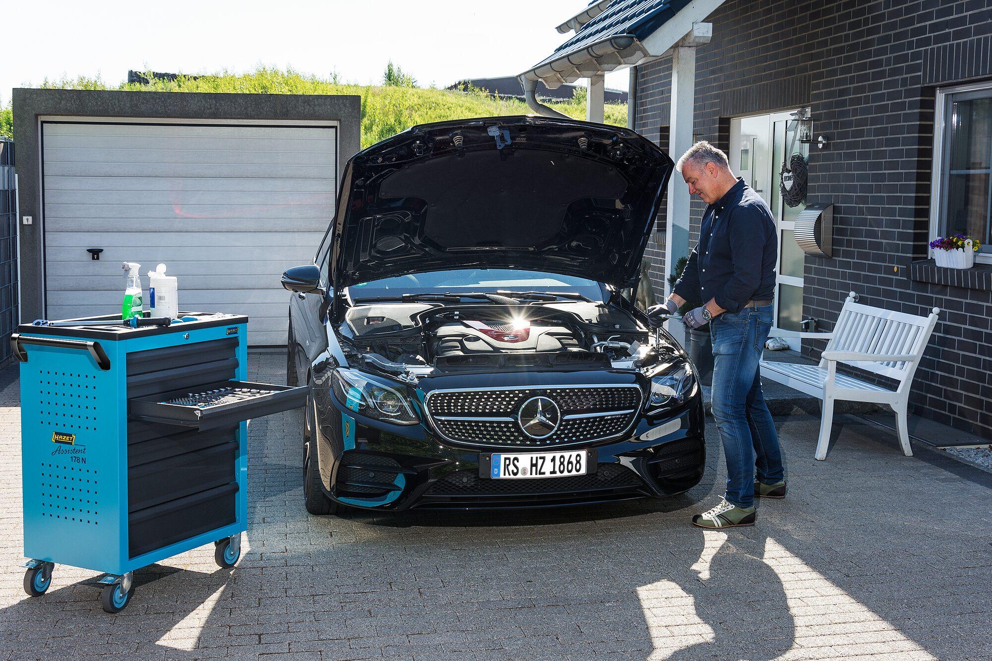 HAZET Werkstattwagen Assistent 178N-10 ∙ Schubladen, flach: 8x 80x527x348 mm