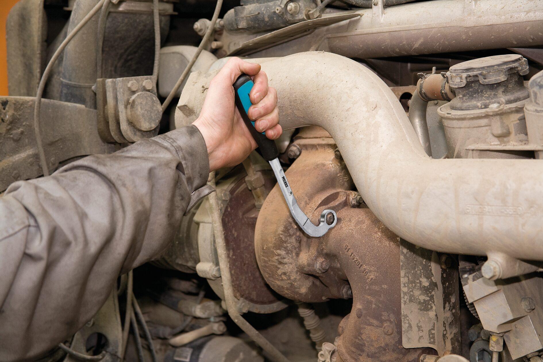 HAZET Turbolader-Schlüssel 2849-15 ∙ Außen-Doppel-Sechskant Profil ∙ 15 mm