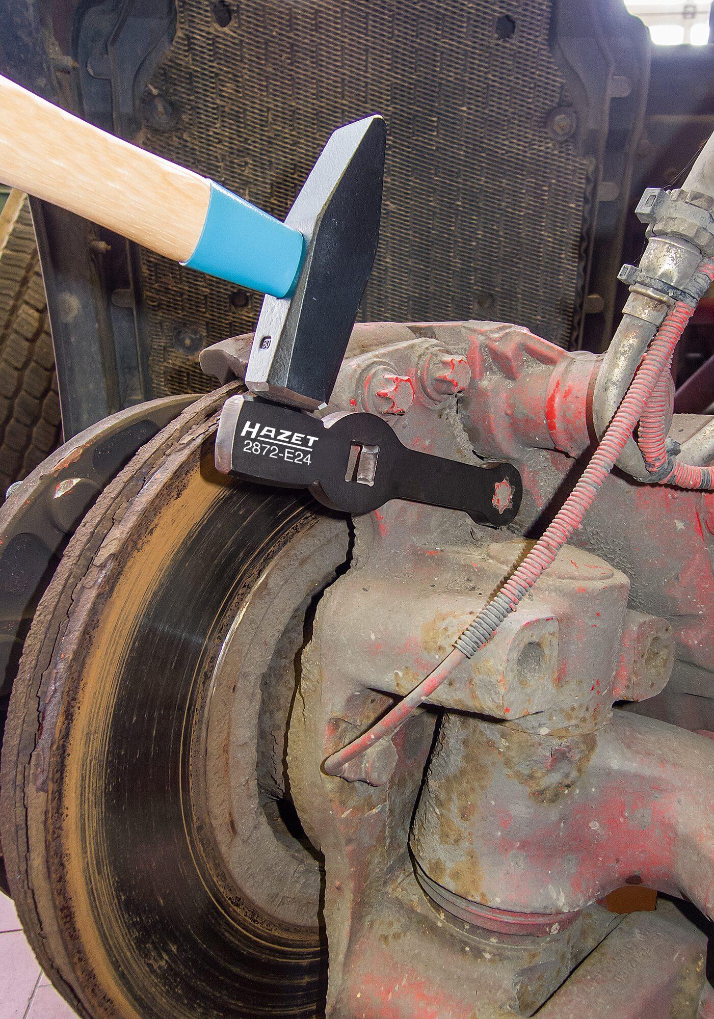 HAZET TORX® Schlag-Schlüssel ∙ mit 2 Schlagflächen 2872-E18 ∙ Vierkant hohl 20 mm (3/4 Zoll) ∙ Außen TORX® Profil