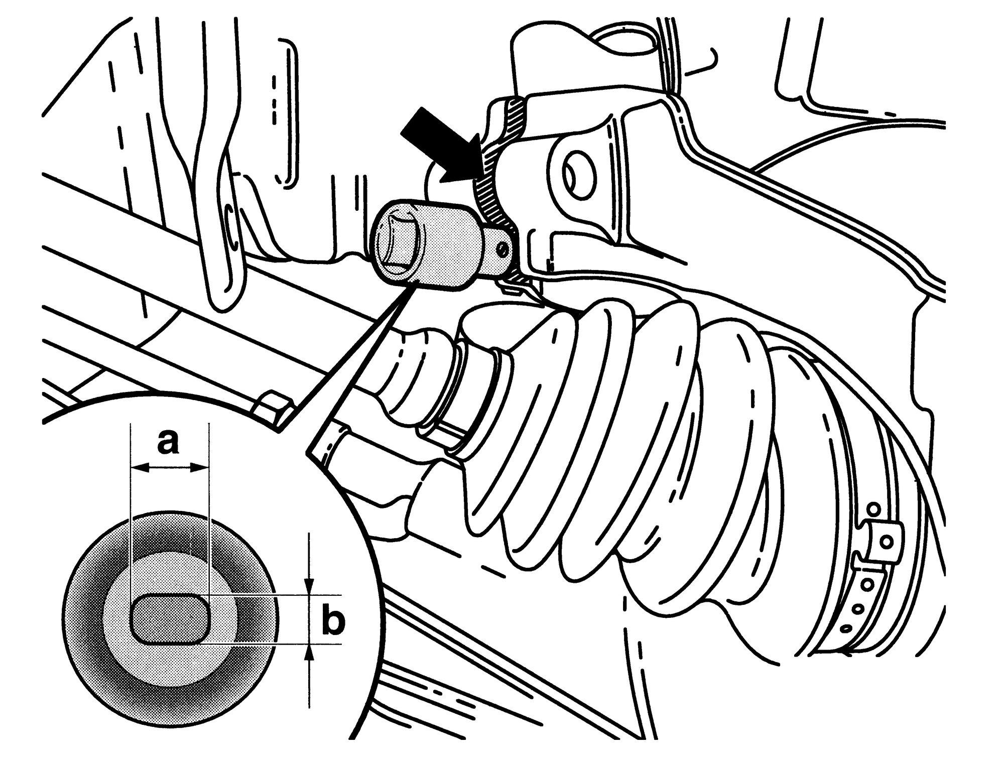 HAZET Radlagergehäuse-Spreizer 4912-3 ∙ Vierkant hohl 12,5 mm (1/2 Zoll) ∙ Zapfenprofil massiv