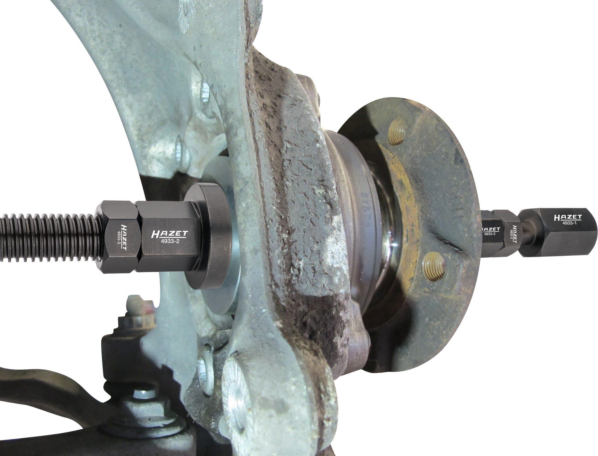 HAZET Doppel-Konus Radlagerwerkzeug Satz 4933-1/11 ∙ Anzahl Werkzeuge: 11