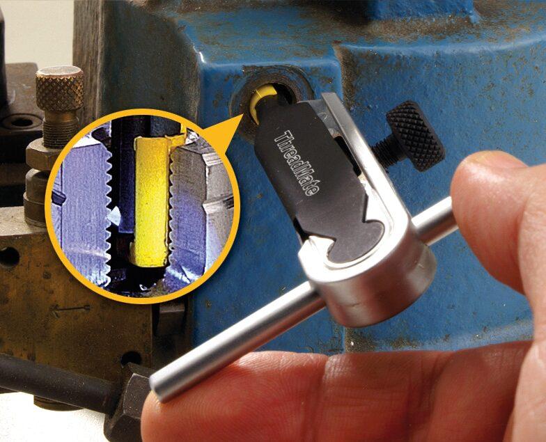 HAZET Universal Gewinde-Nachschneide Satz 842AIG-1/4 ∙ Anzahl Werkzeuge: 4