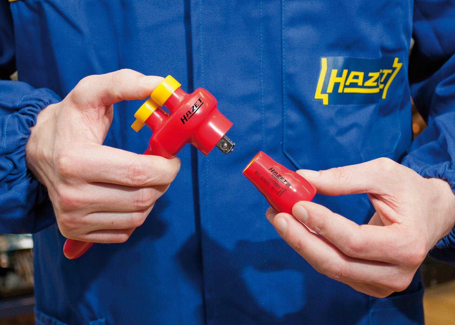 HAZET Steckschlüsseleinsatz ∙ Sechskant 880KV-22 ∙ Vierkant hohl 10 mm (3/8 Zoll) ∙ Außen-Sechskant-Tractionsprofil
