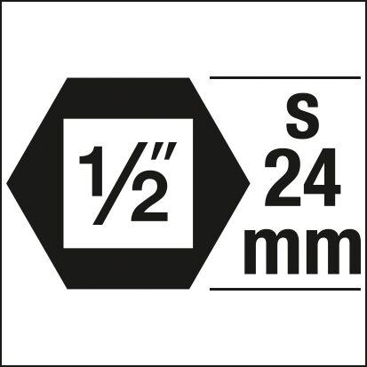 HAZET Schlag- ∙ Maschinenschrauber Steckschlüsseleinsatz ∙ Doppelsechskant 900SZ6-19 ∙ 19 mm