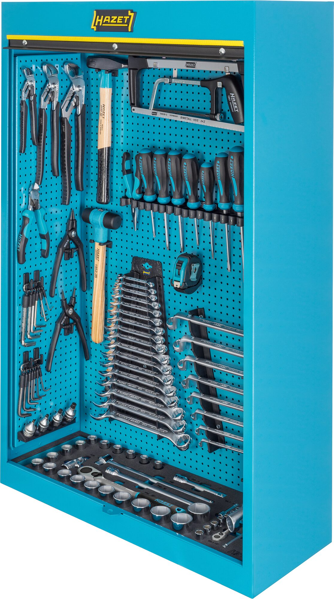 HAZET Werkzeugschrank ∙ mit Sortiment 111/116 ∙ Anzahl Werkzeuge: 116