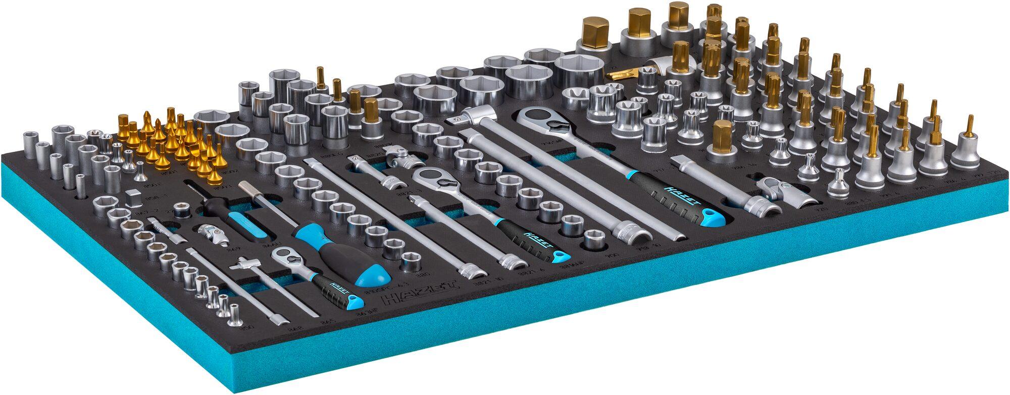 HAZET Steckschlüssel Satz 163-549/160 ∙ 3–32 ∙ E4–E24 ∙ T15–T60 ∙ Anzahl Werkzeuge: 160