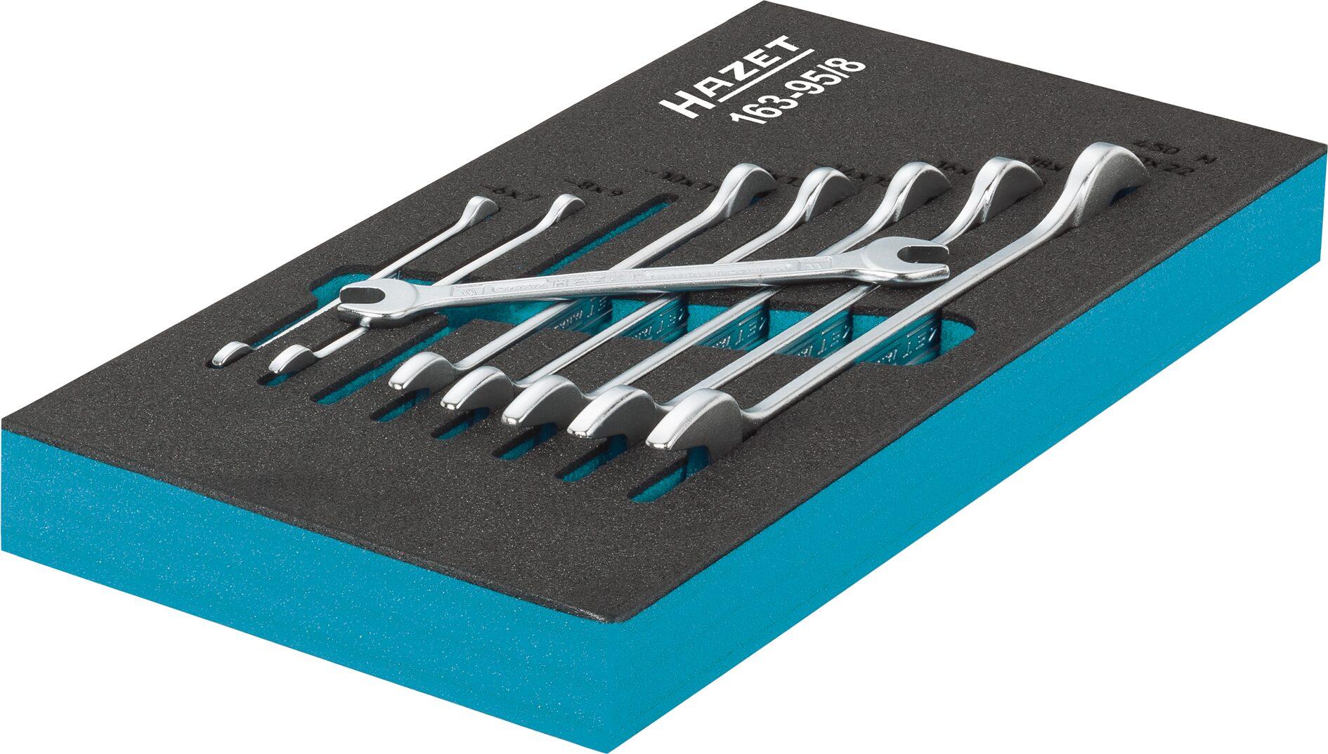 HAZET Doppel-Maulschlüssel Satz 163-519/12 ∙ Außen-Sechskant Profil ∙ 6–36 ∙ Anzahl Werkzeuge: 12