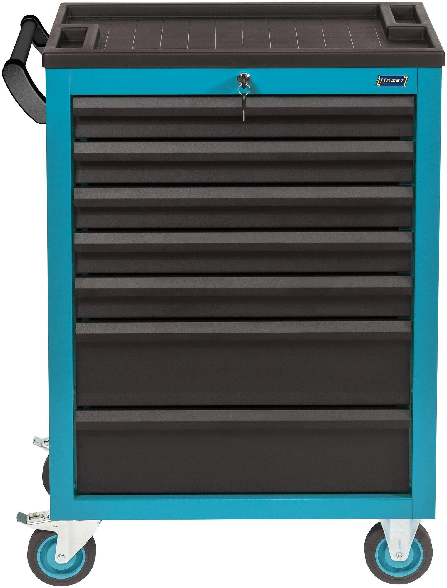 HAZET Werkstattwagen Assistent 178N-7 ∙ Schubladen, flach: 5x 80x527x348 mm