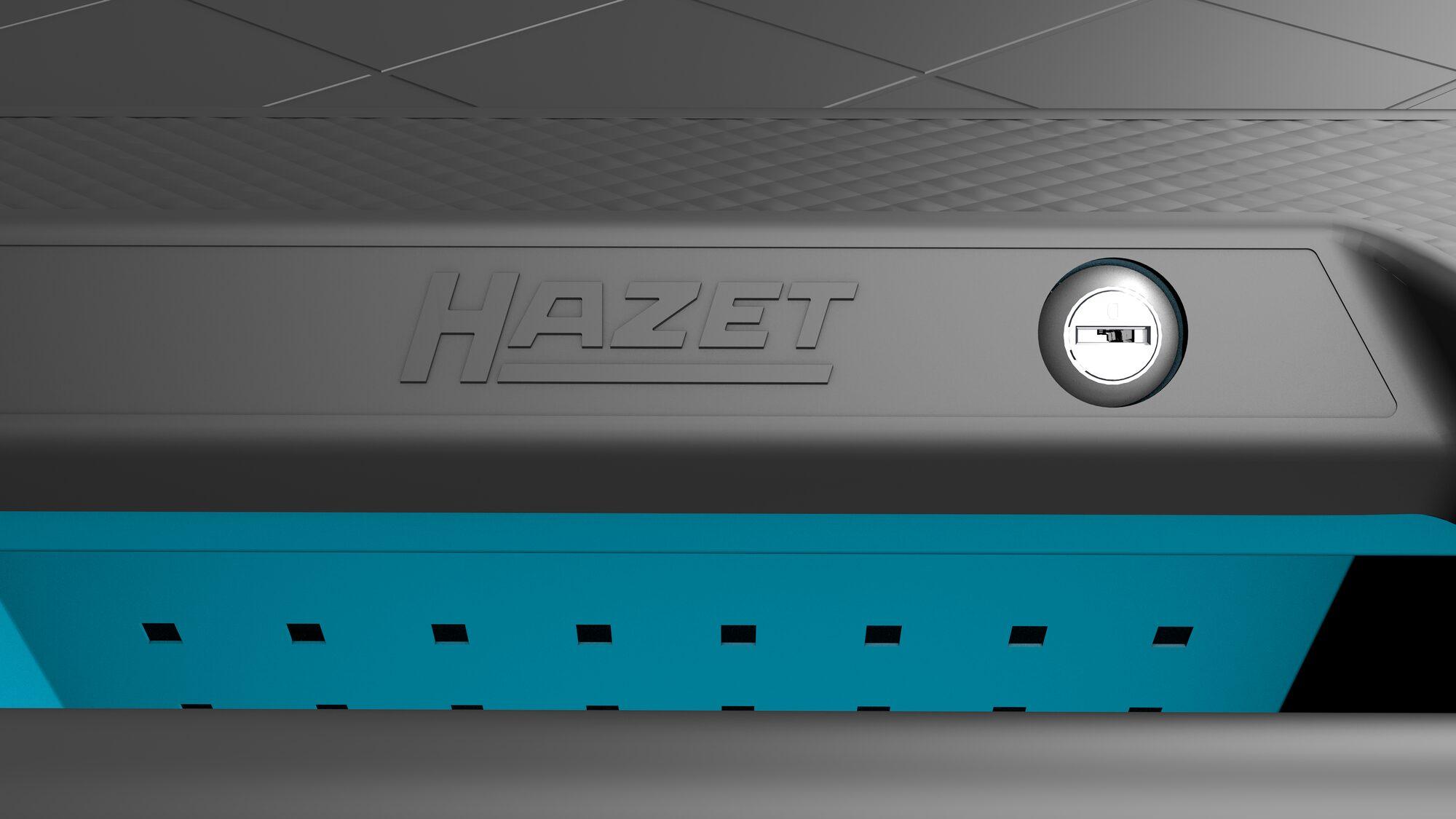 HAZET Werkstattwagen Assistent 179NXL-7 ∙ Schubladen, flach: 5x 81x696x398 mm