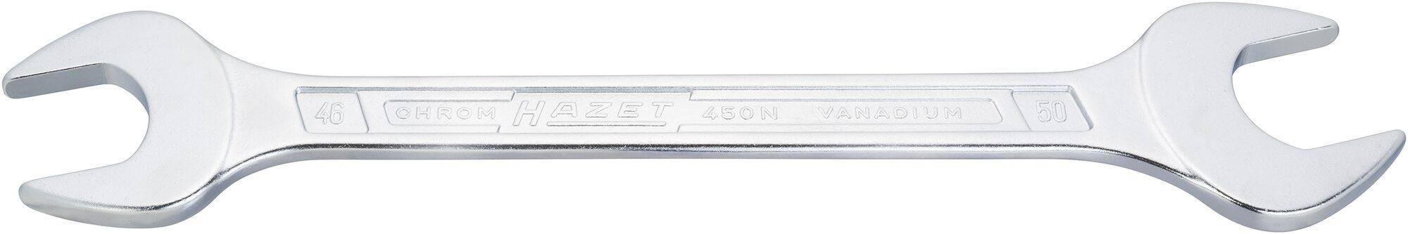 HAZET Doppel-Maulschlüssel 450N-22X24 ∙ Außen-Sechskant Profil ∙ 22 x 24 mm