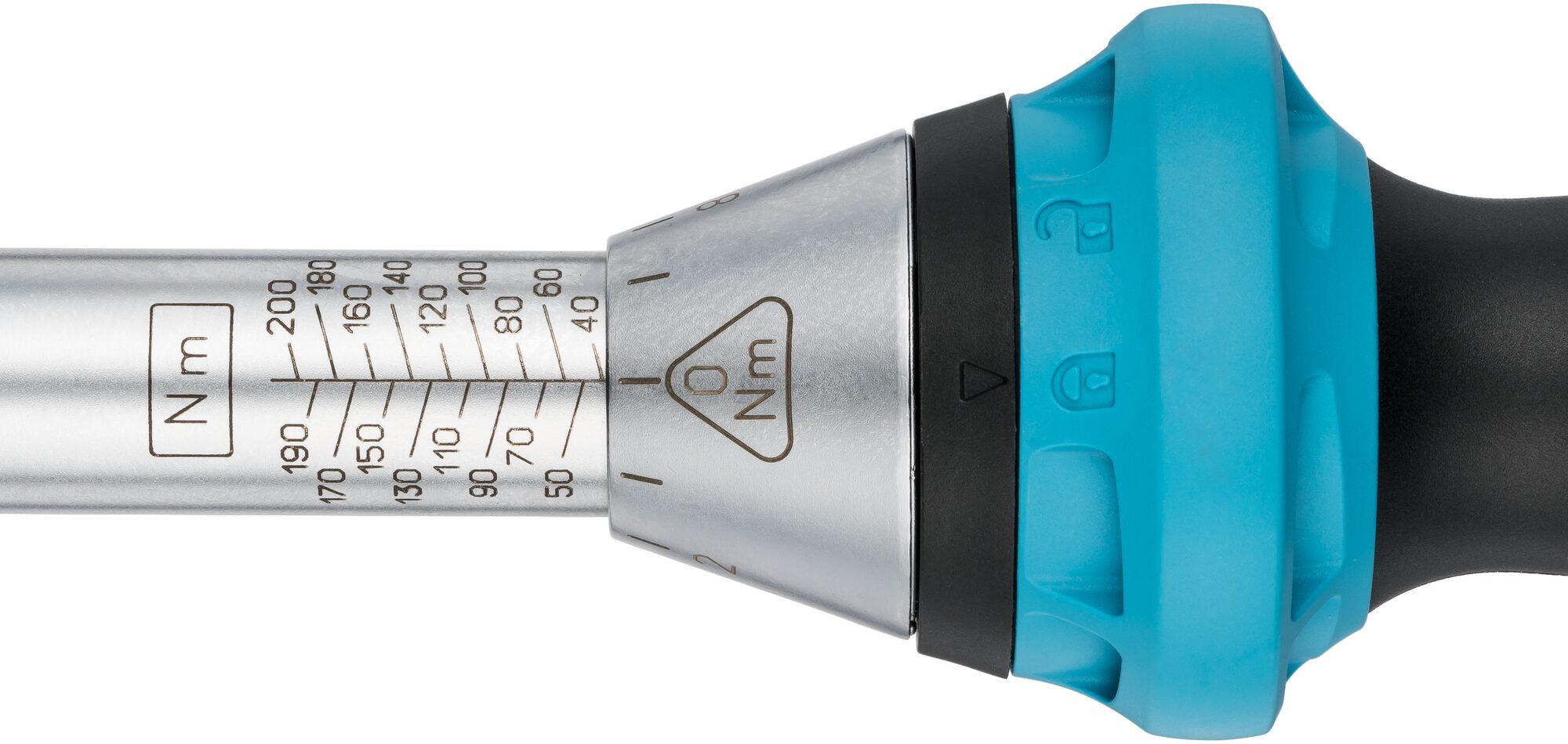 HAZET Drehmoment-Schlüssel 5122-3CT ∙ Nm min-max: 40–200 Nm ∙ Toleranz: 3% ∙ Vierkant massiv 12,5 mm (1/2 Zoll)