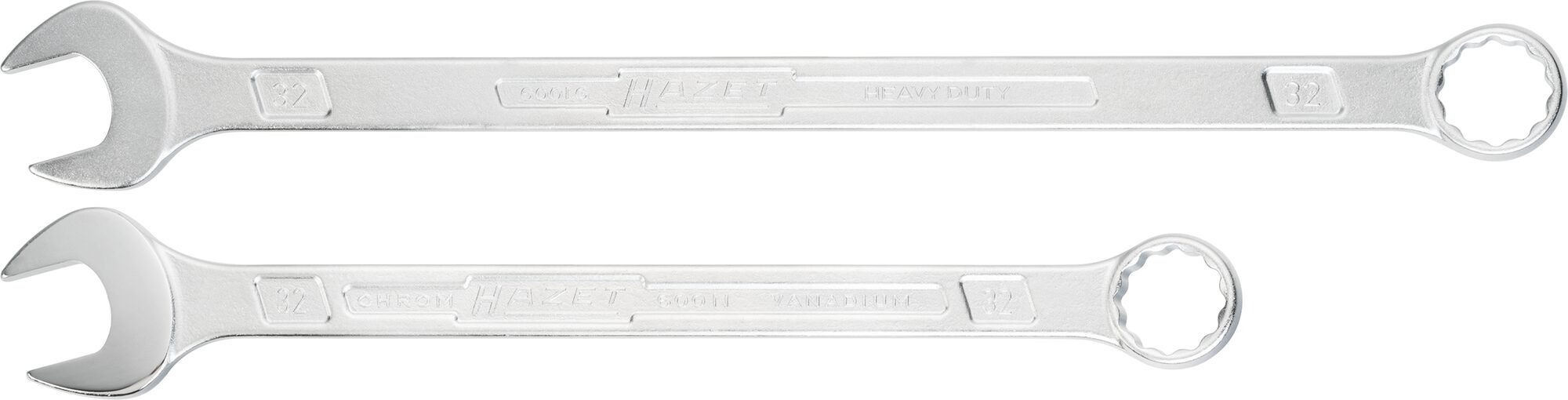 HAZET Ring-Maulschlüssel ∙ extra lang ∙ schlanke Bauform 600LG/13 ∙ Außen-Doppel-Sechskant-Tractionsprofil