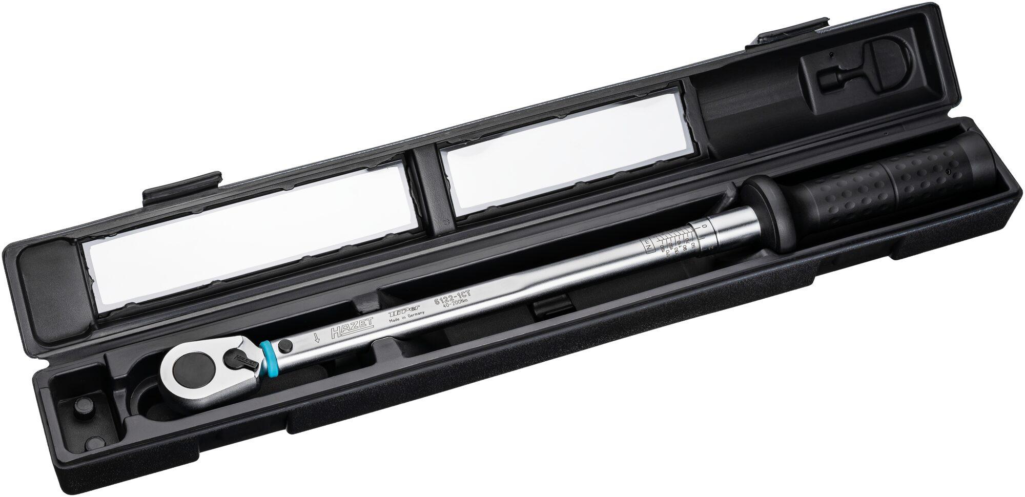 HAZET Drehmoment-Schlüssel 6143-1CTCAL ∙ Nm min-max: 100–400 Nm ∙ Toleranz: 2%