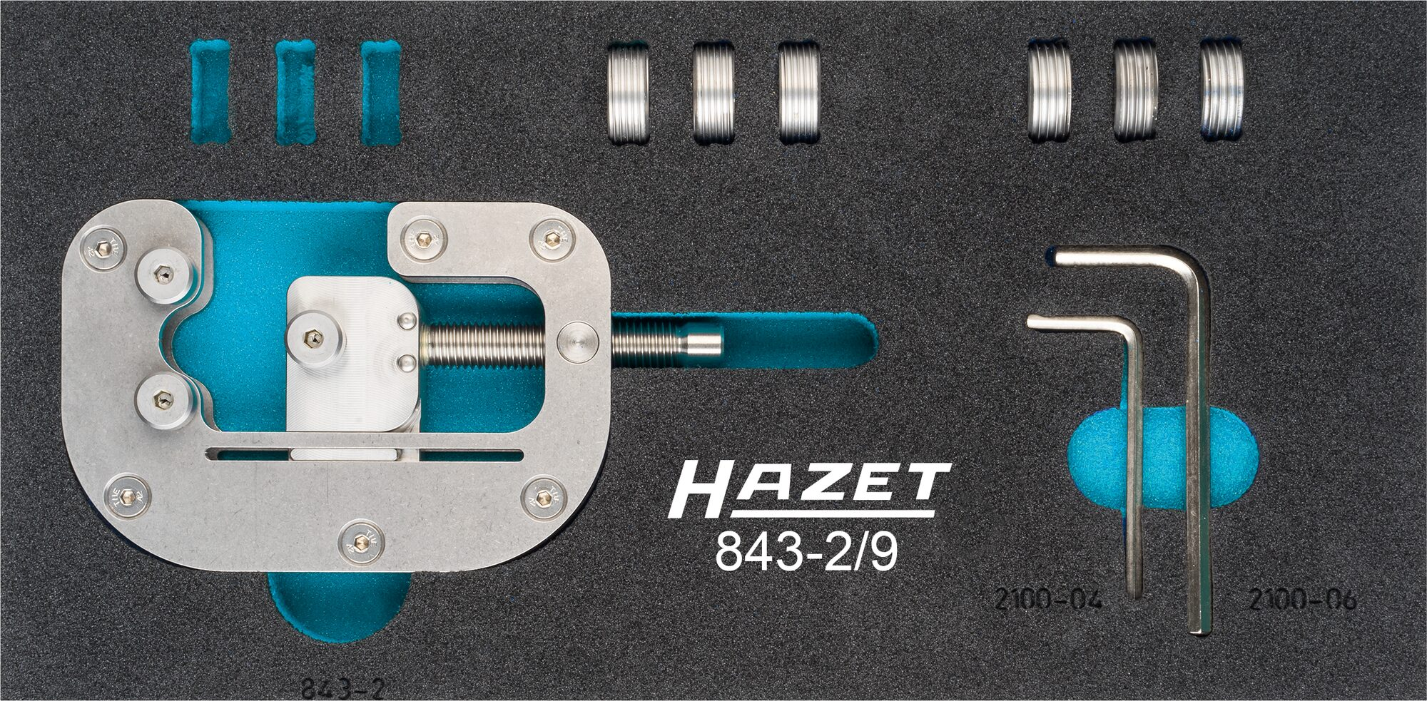 HAZET Gewinderoll Satz 843-2/9 ∙ Anzahl Werkzeuge: 9