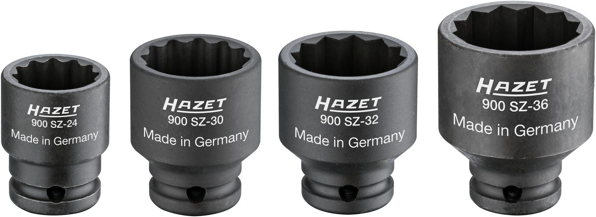 HAZET Antriebs- ∙ Gelenk- ∙ Achswellen-Satz 900SZ/4 ∙ Vierkant hohl 12,5 mm (1/2 Zoll) ∙ 24–36