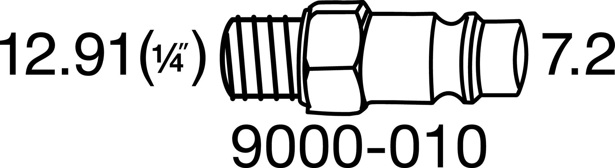 HAZET Schlagschrauber ∙ extra kurz 9012M ∙ Lösemoment maximal: 1100 Nm ∙ Vierkant massiv 12,5 mm (1/2 Zoll)