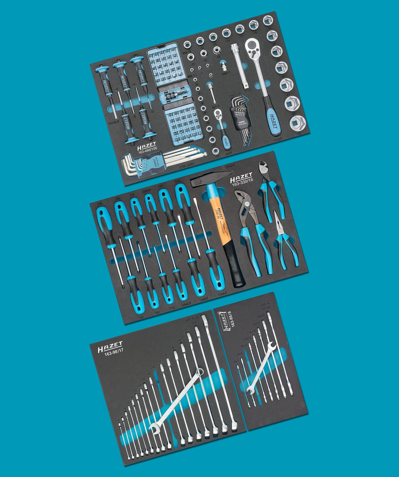 HAZET Werkzeug Sortiment 0-178N/147 ∙ Anzahl Werkzeuge: 147