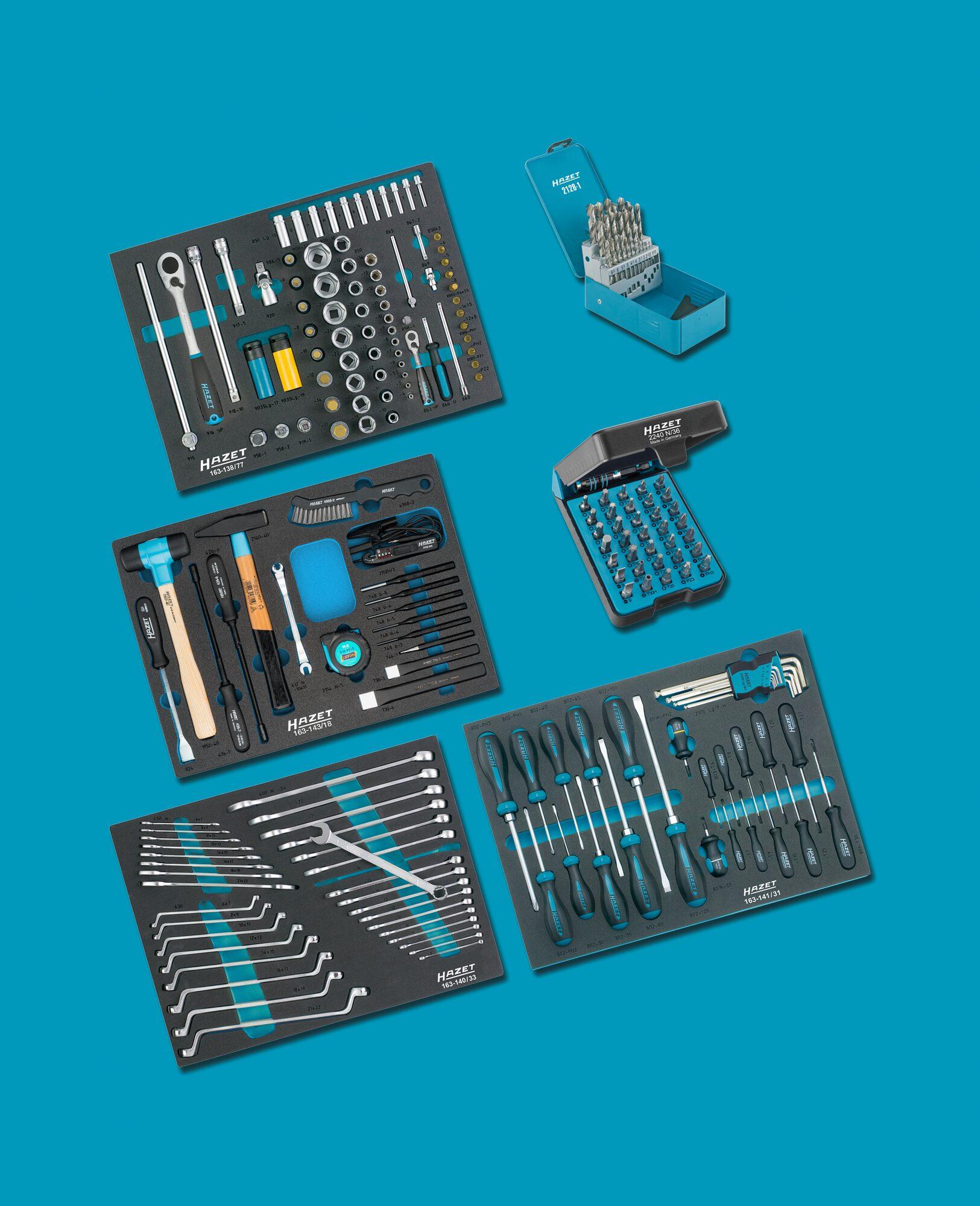 HAZET Werkzeug Sortiment 0-179/220 ∙ Anzahl Werkzeuge: 220