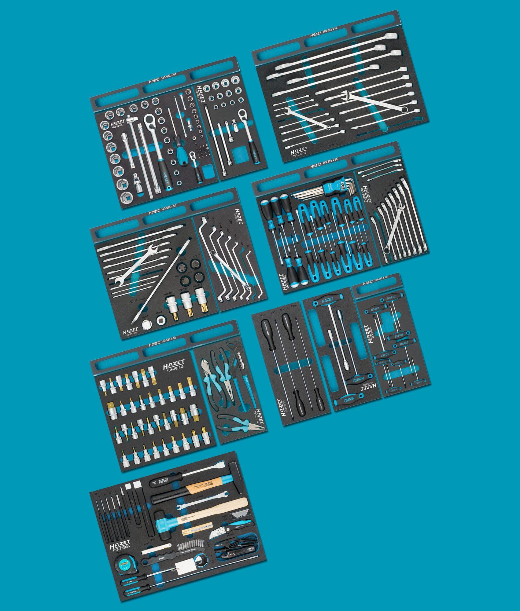 HAZET Werkzeug Sortiment 0-179/244 ∙ Anzahl Werkzeuge: 244