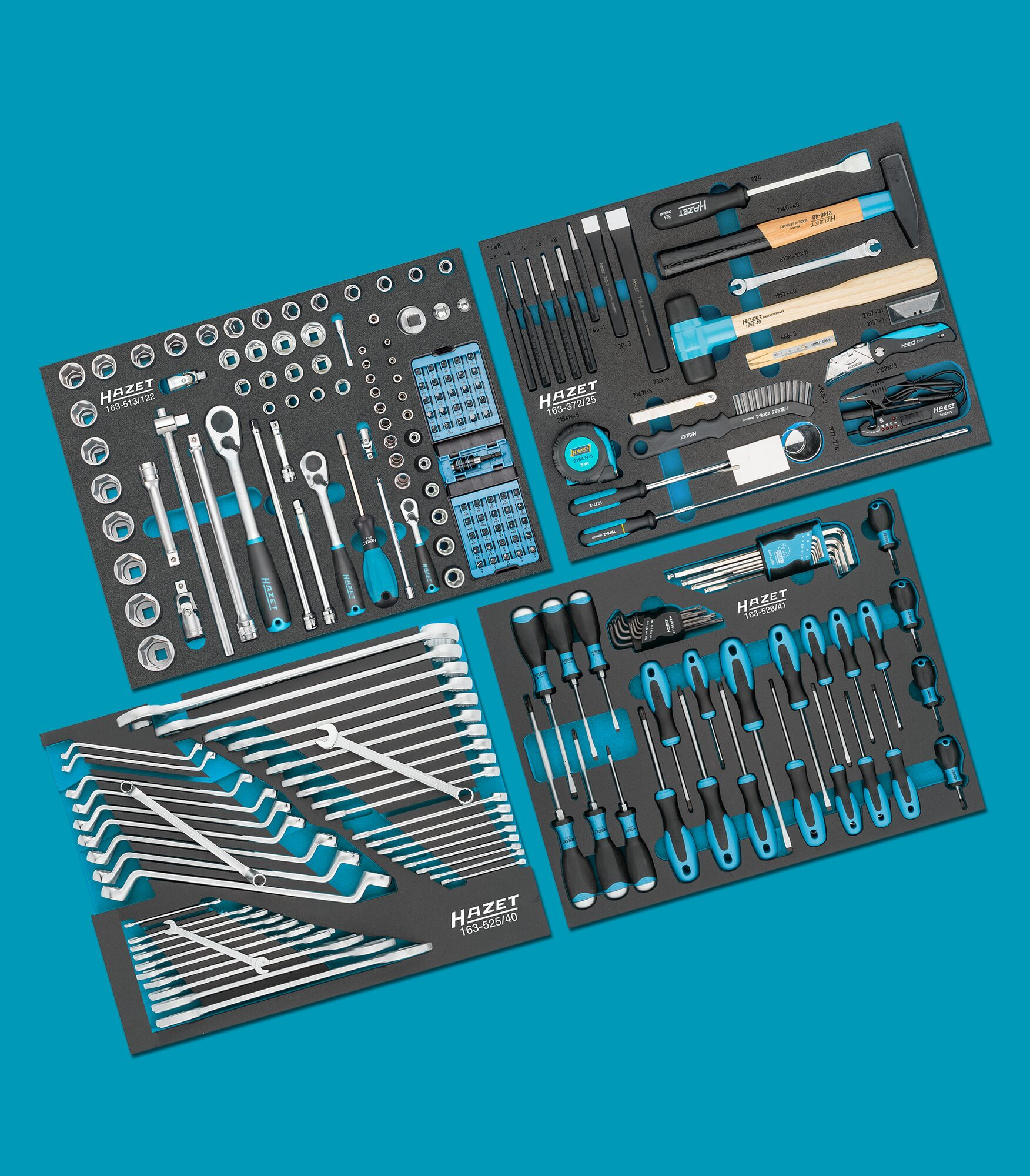 HAZET Werkzeug Sortiment 0-179NW/230 ∙ Anzahl Werkzeuge: 230