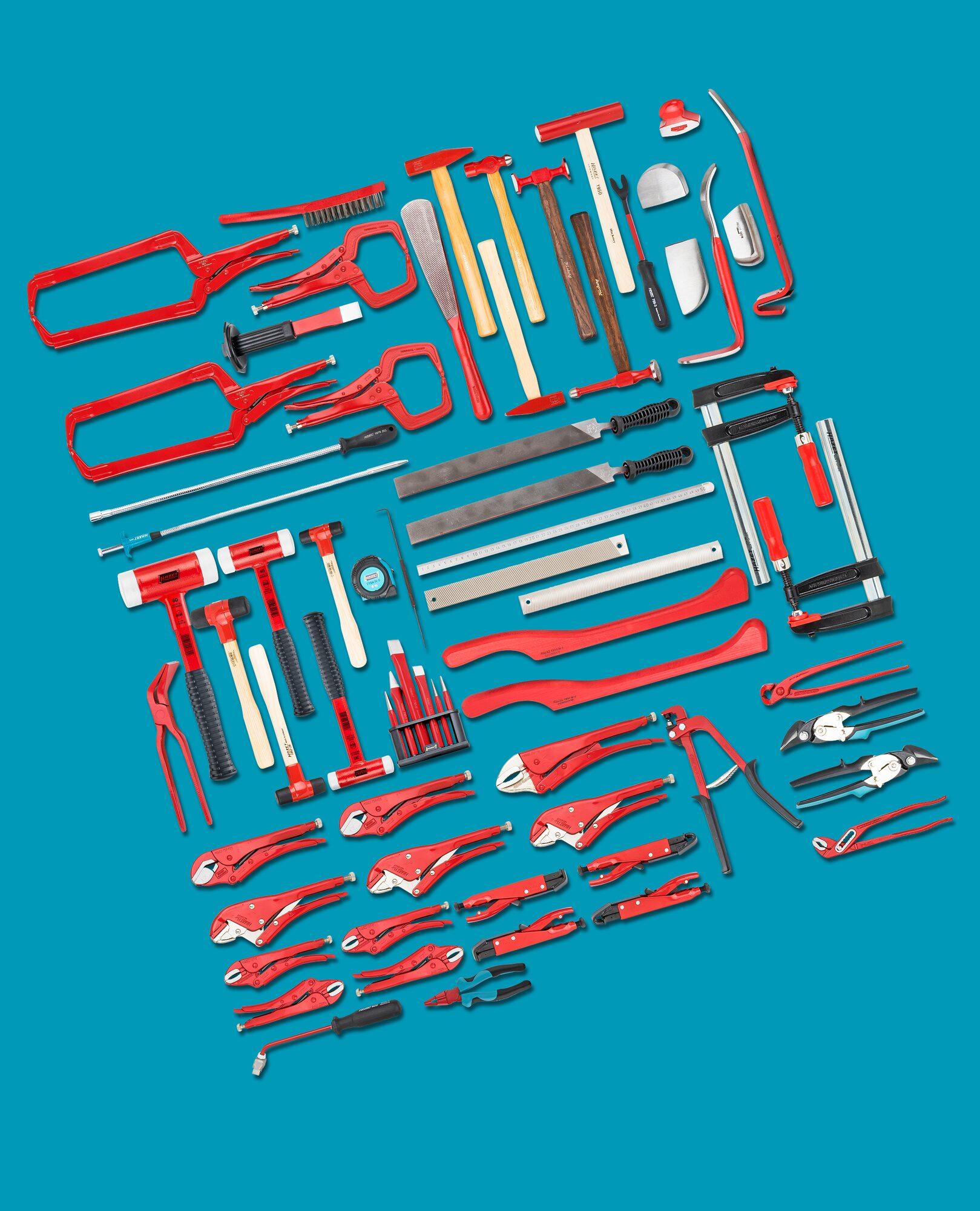 HAZET Werkzeug Sortiment 0-179NX/65ALU ∙ Anzahl Werkzeuge: 65