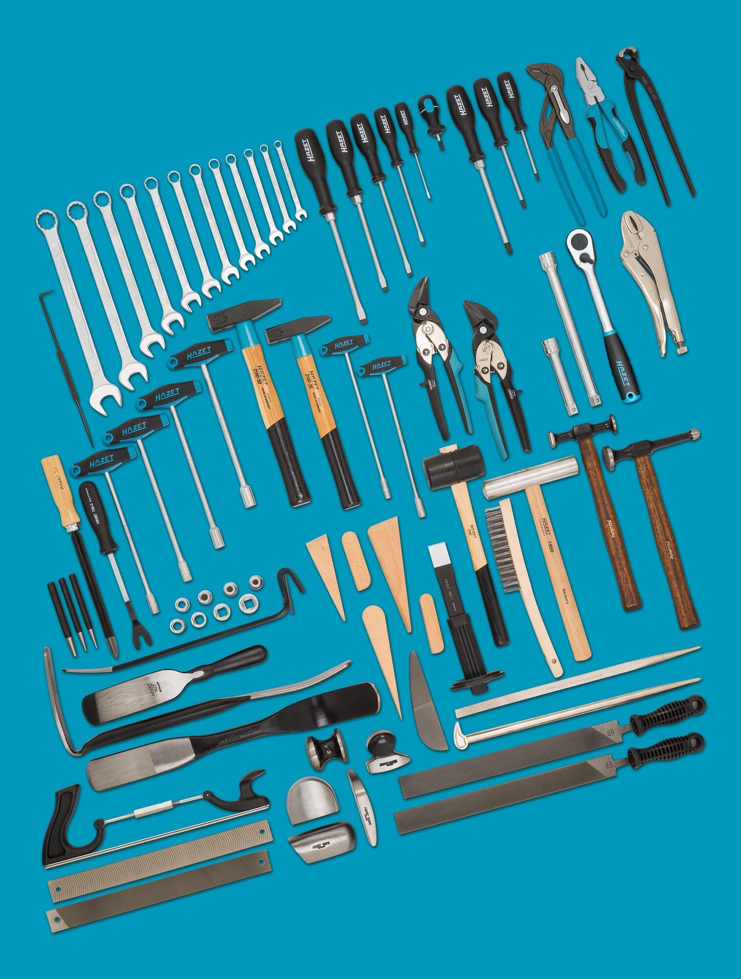 HAZET Werkzeug Sortiment 0-1900/77 ∙ Anzahl Werkzeuge: 77