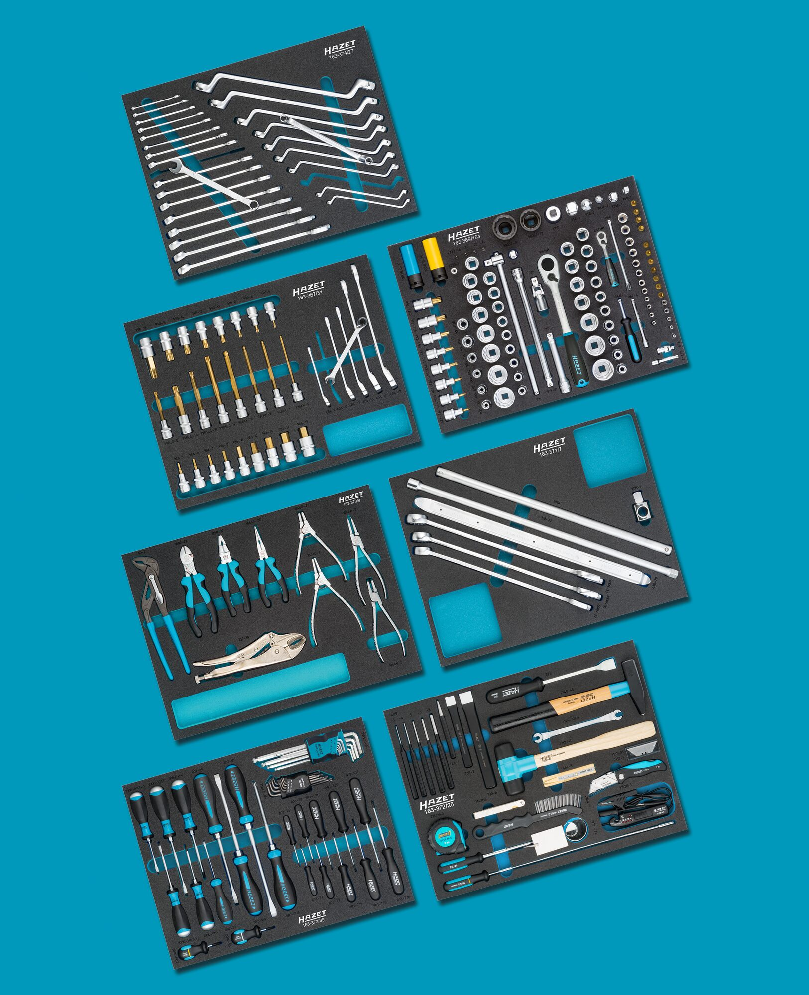 HAZET Basis Sortiment für VW AUDI 0-2500-163/242 ∙ Anzahl Werkzeuge: 242