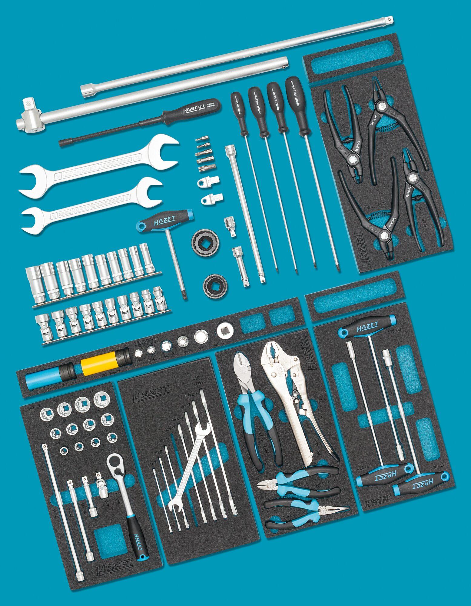 HAZET Ergänzungs-Sortiment für AUDI 0-2500-163/86 ∙ Anzahl Werkzeuge: 86