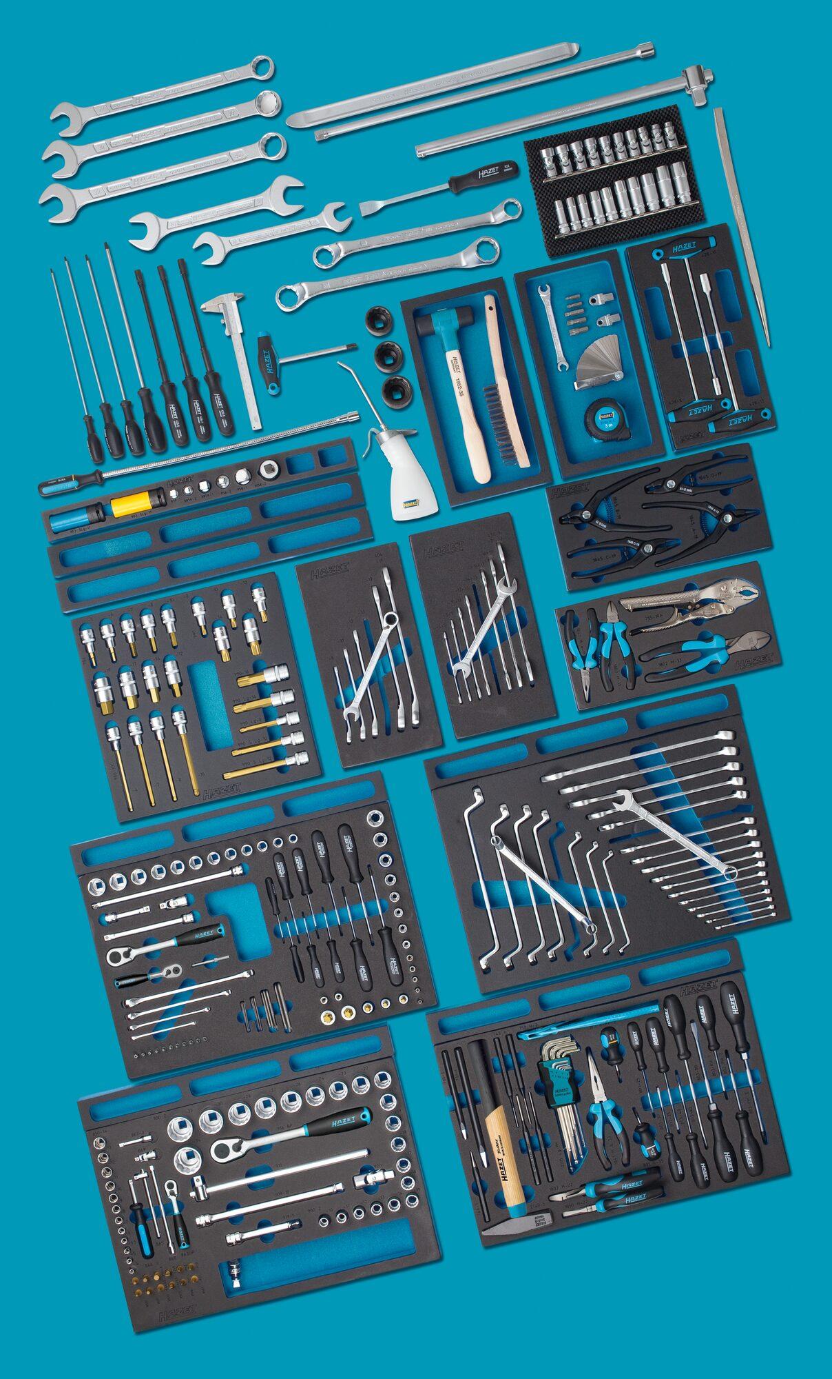HAZET Werkzeug Sortiment ∙ MERCEDES-BENZ 0-2700-163/296 ∙ Anzahl Werkzeuge: 296