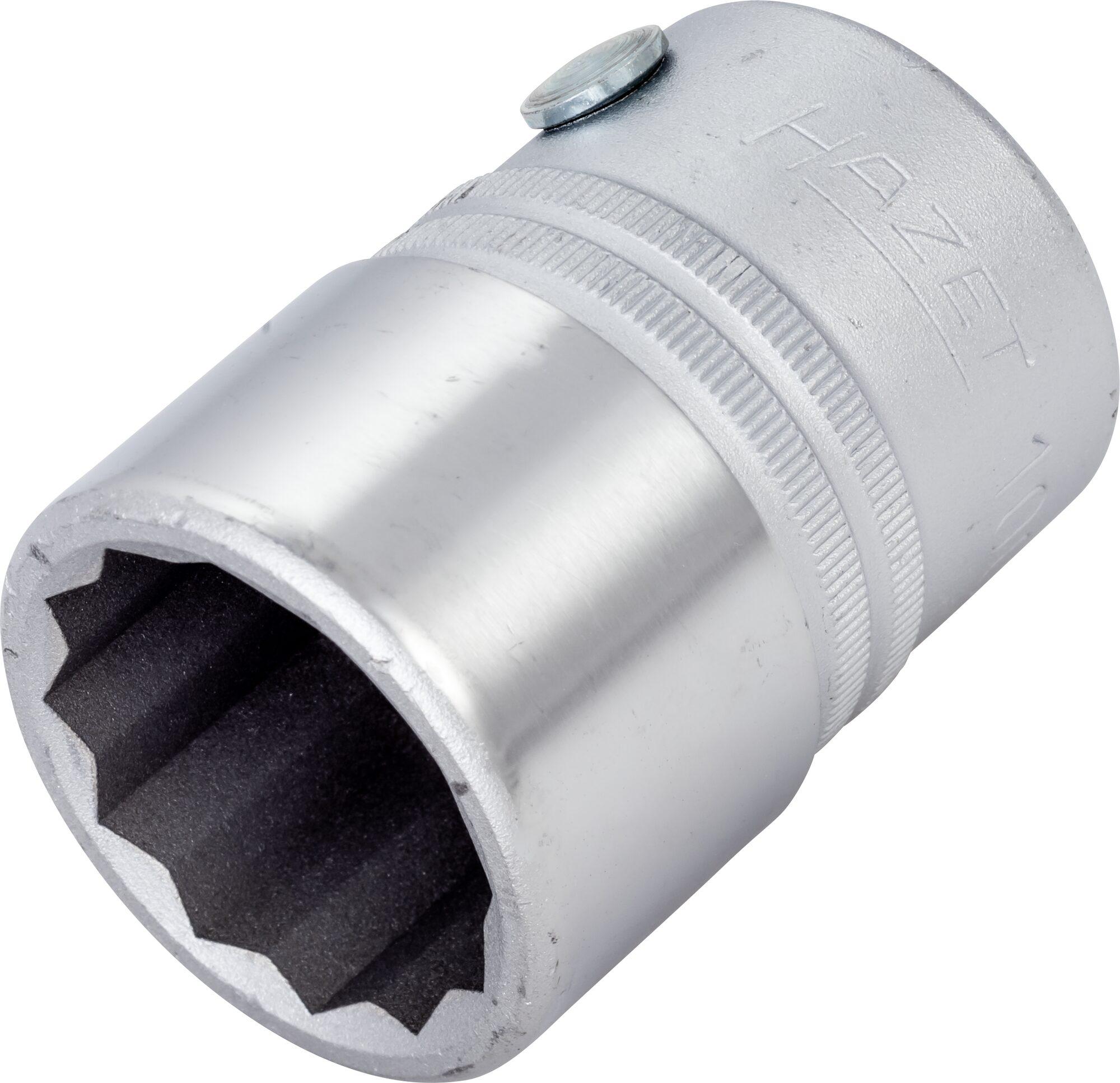 HAZET Steckschlüsseleinsatz ∙ Doppelsechskant 1000Z-27 ∙ Vierkant hohl 20 mm (3/4 Zoll) ∙ 27 mm