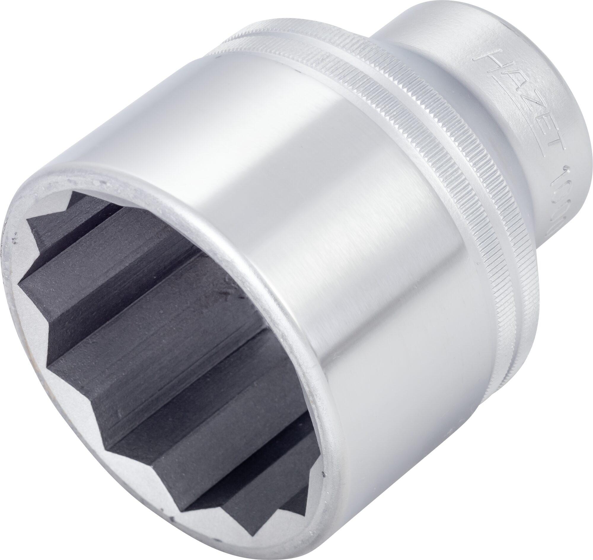 HAZET Steckschlüsseleinsatz ∙ Doppelsechskant 1000Z-55 ∙ Vierkant hohl 20 mm (3/4 Zoll) ∙ 55 mm