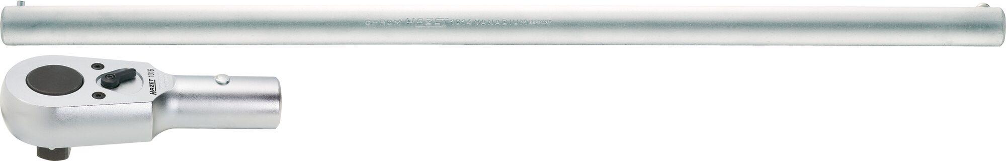 HAZET Umschalt-Knarrenkopf ∙ mit Drehstange 1016/2 ∙ Vierkant massiv 20 mm (3/4 Zoll) ∙ Anzahl Werkzeuge: 2