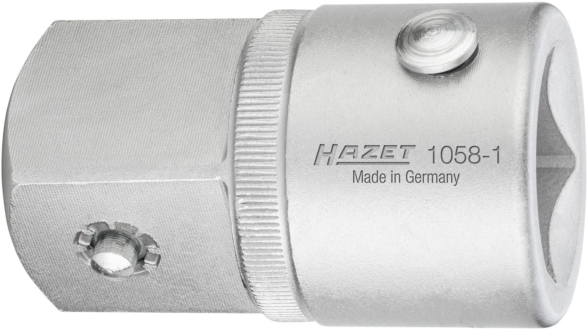 HAZET Vergrößerungsstück 1058-1 ∙ Vierkant hohl 20 mm (3/4 Zoll) ∙ Vierkant massiv 25 mm (1 Zoll)
