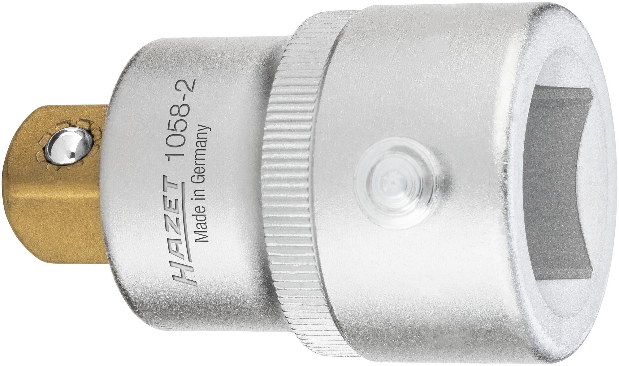 HAZET Reduzierstück 1058-2 ∙ Vierkant hohl 20 mm (3/4 Zoll) ∙ Vierkant massiv 12,5 mm (1/2 Zoll)
