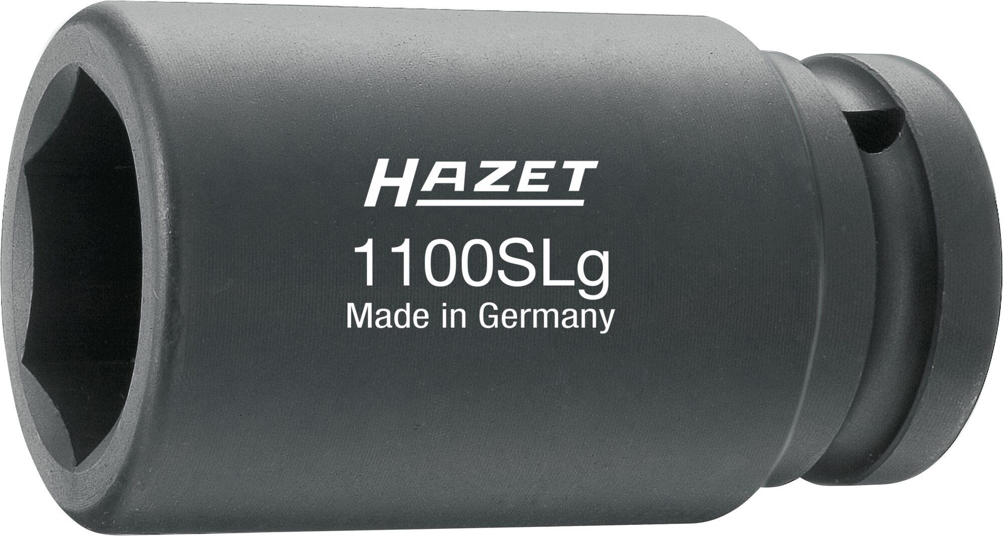 HAZET Schlag- ∙ Maschinenschrauber Steckschlüsseleinsatz ∙ Sechskant 1100SLG-27 ∙ Vierkant hohl 25 mm (1 Zoll) ∙ 27 mm