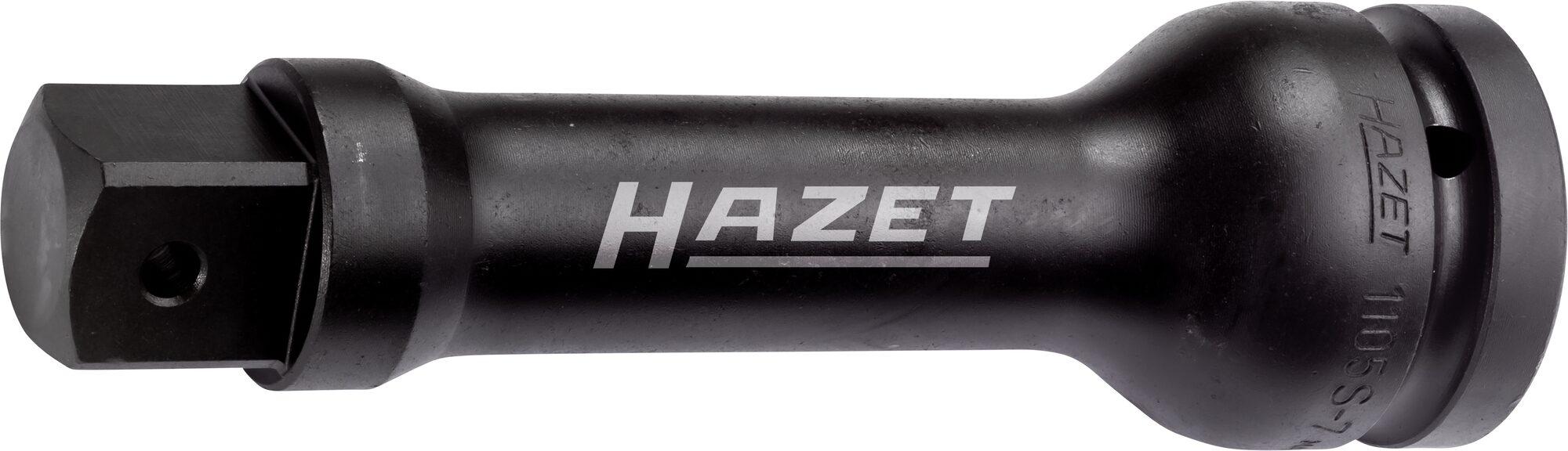 HAZET Schlag- ∙ Maschinenschrauber Verlängerung 1105S-13 ∙ Vierkant hohl 25 mm (1 Zoll) ∙ Vierkant massiv 25 mm (1 Zoll)