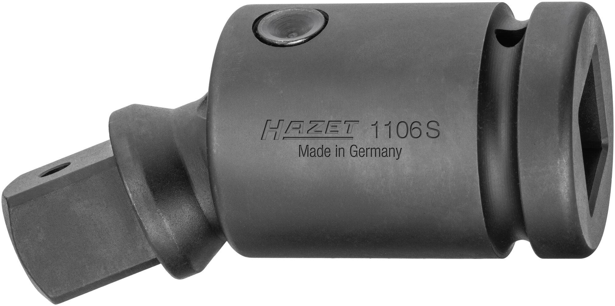 HAZET Schlag- ∙ Maschinenschrauber Gelenkstück 1106S ∙ Vierkant hohl 25 mm (1 Zoll) ∙ Vierkant massiv 25 mm (1 Zoll)