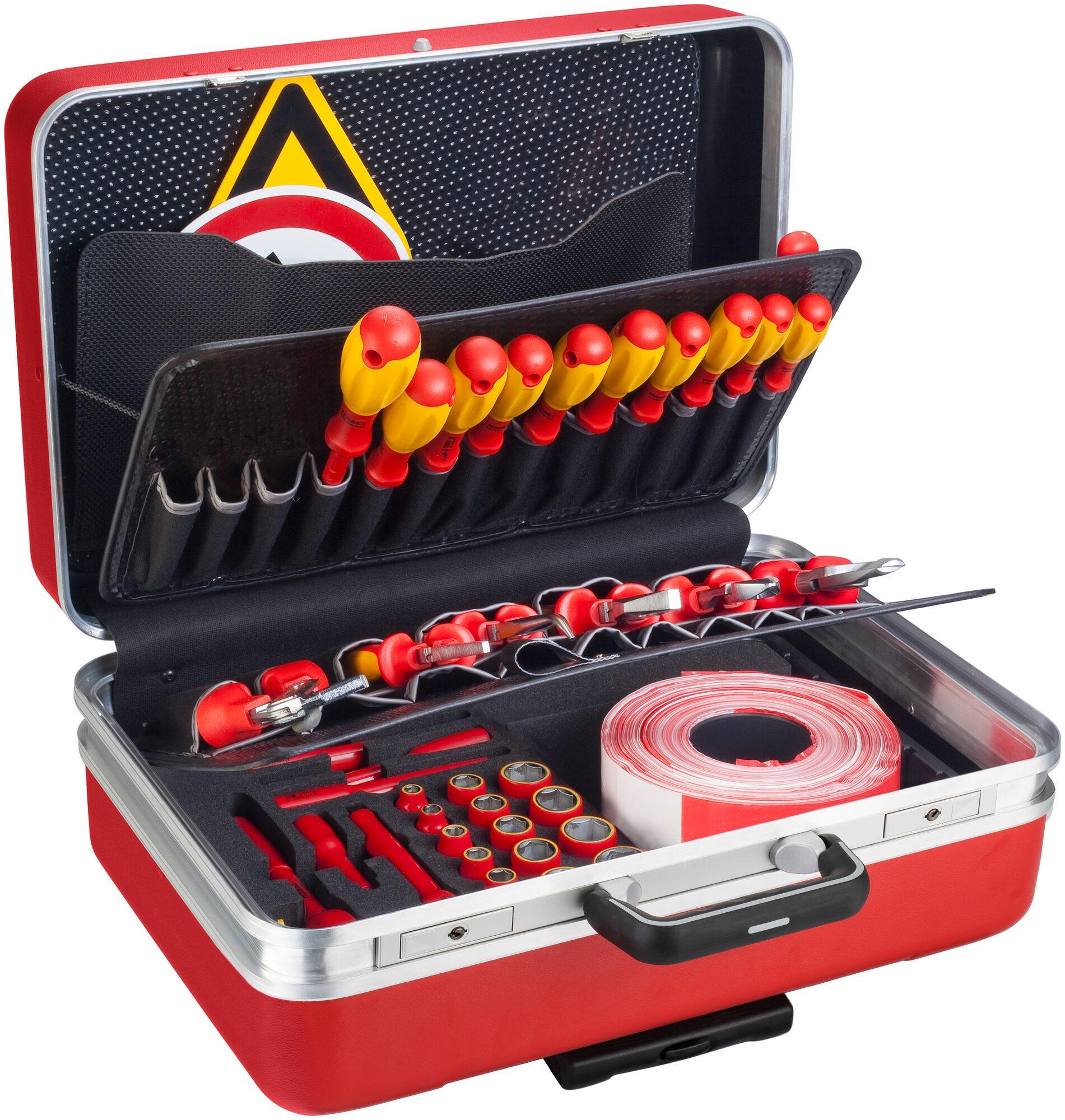 HAZET Werkzeug Satz für Hybrid- und Elektrofahrzeuge 150/43 ∙ Vierkant hohl 10 mm (3/8 Zoll) ∙ Anzahl Werkzeuge: 43