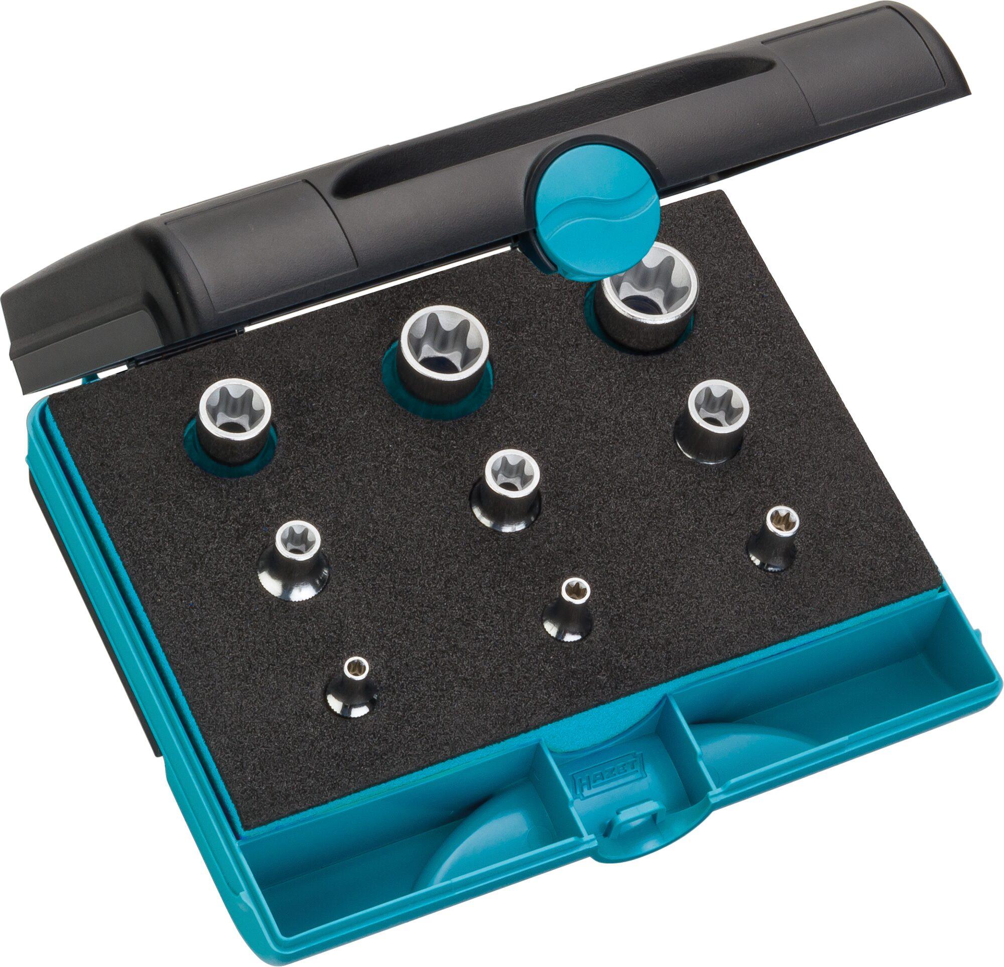HAZET Werkzeug Satz TORX® 1557/9 ∙ Außen TORX® Profil ∙ Anzahl Werkzeuge: 9