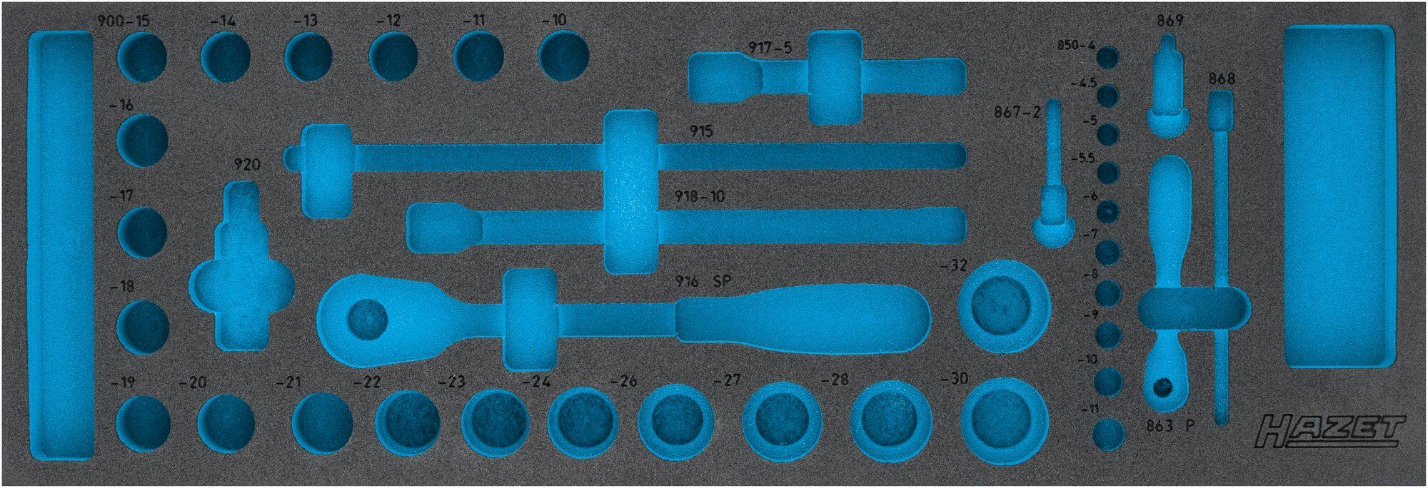 HAZET 2-Komponenten Weichschaum-Einlage 163-110L