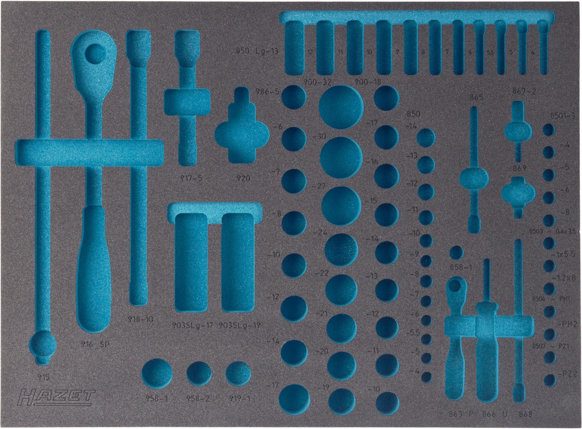 HAZET 2-Komponenten Weichschaum-Einlage 163-138L