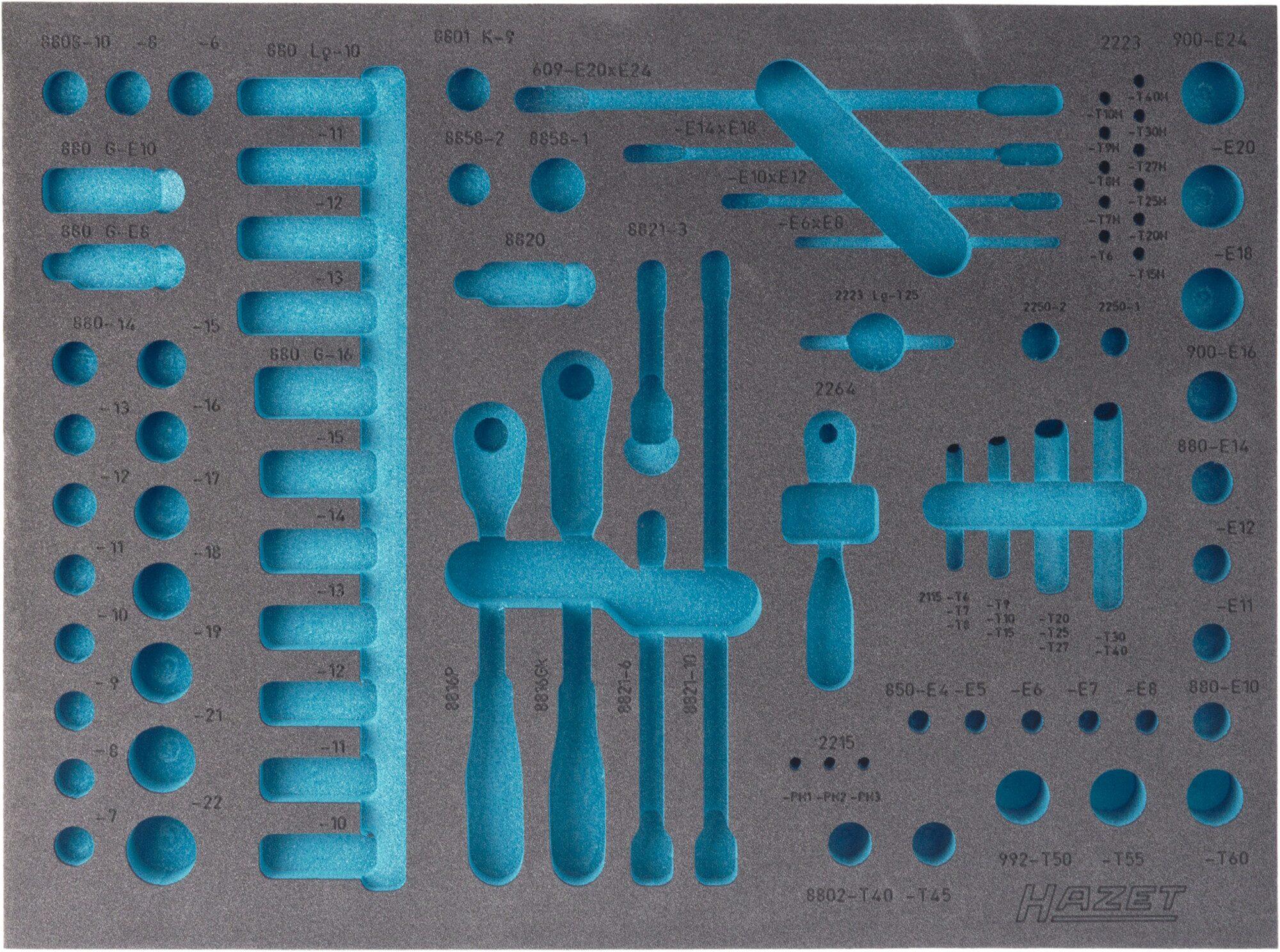 HAZET 2-Komponenten Weichschaum-Einlage 163-139L