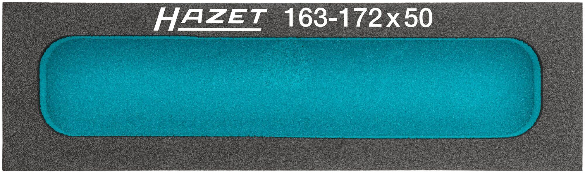 HAZET Weichschaum-Einlage ∙ mit Kleinteilefächern 163-172X50