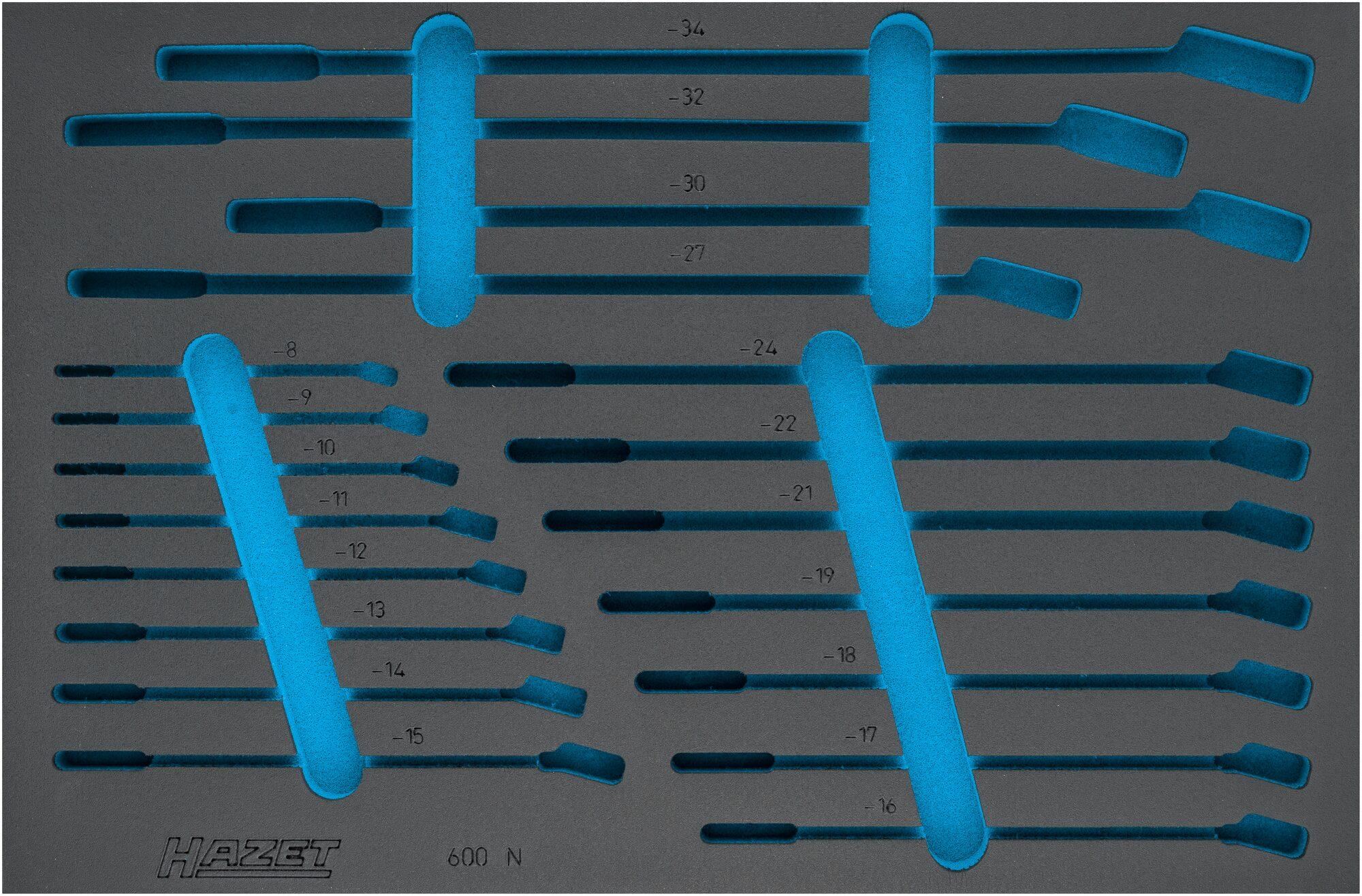 HAZET 2-Komponenten Weichschaum-Einlage 163-210L