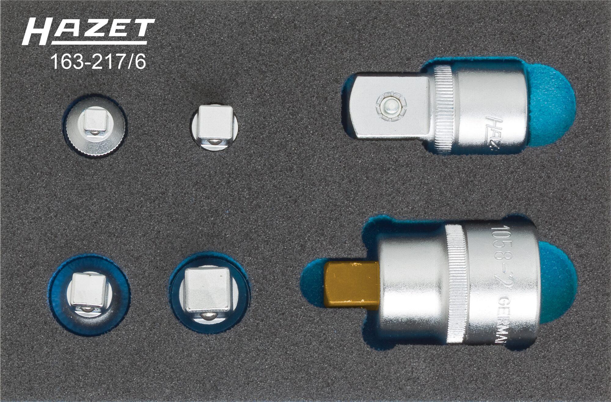 HAZET Adapter Satz 163-217/6 ∙ Anzahl Werkzeuge: 6