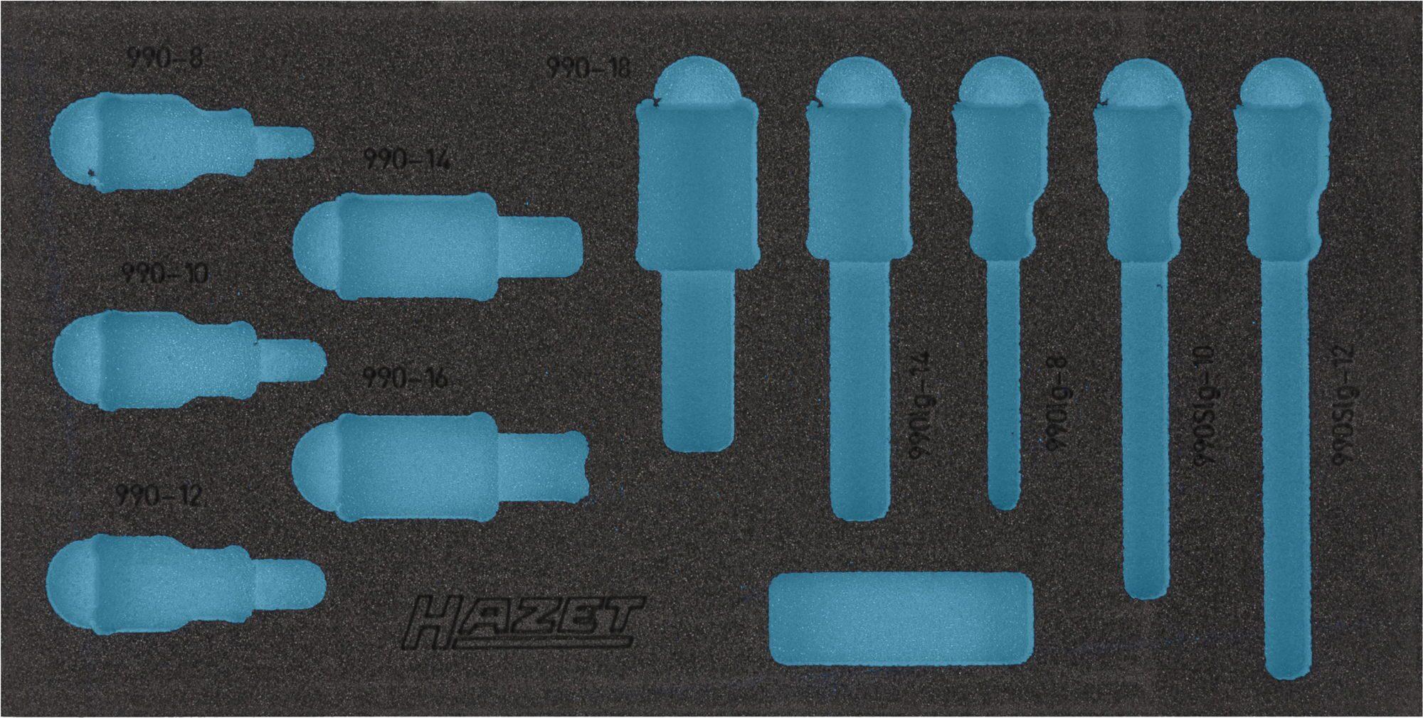 HAZET 2-Komponenten Weichschaum-Einlage 163-221L