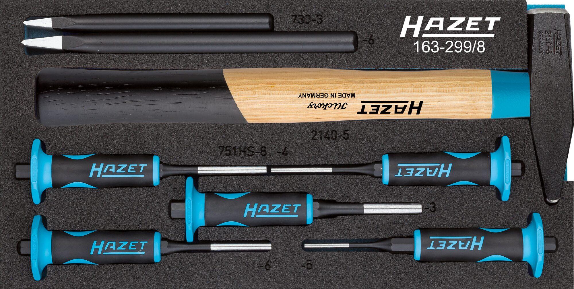 HAZET Splinttreiber Satz 163-299/8 ∙ Anzahl Werkzeuge: 8