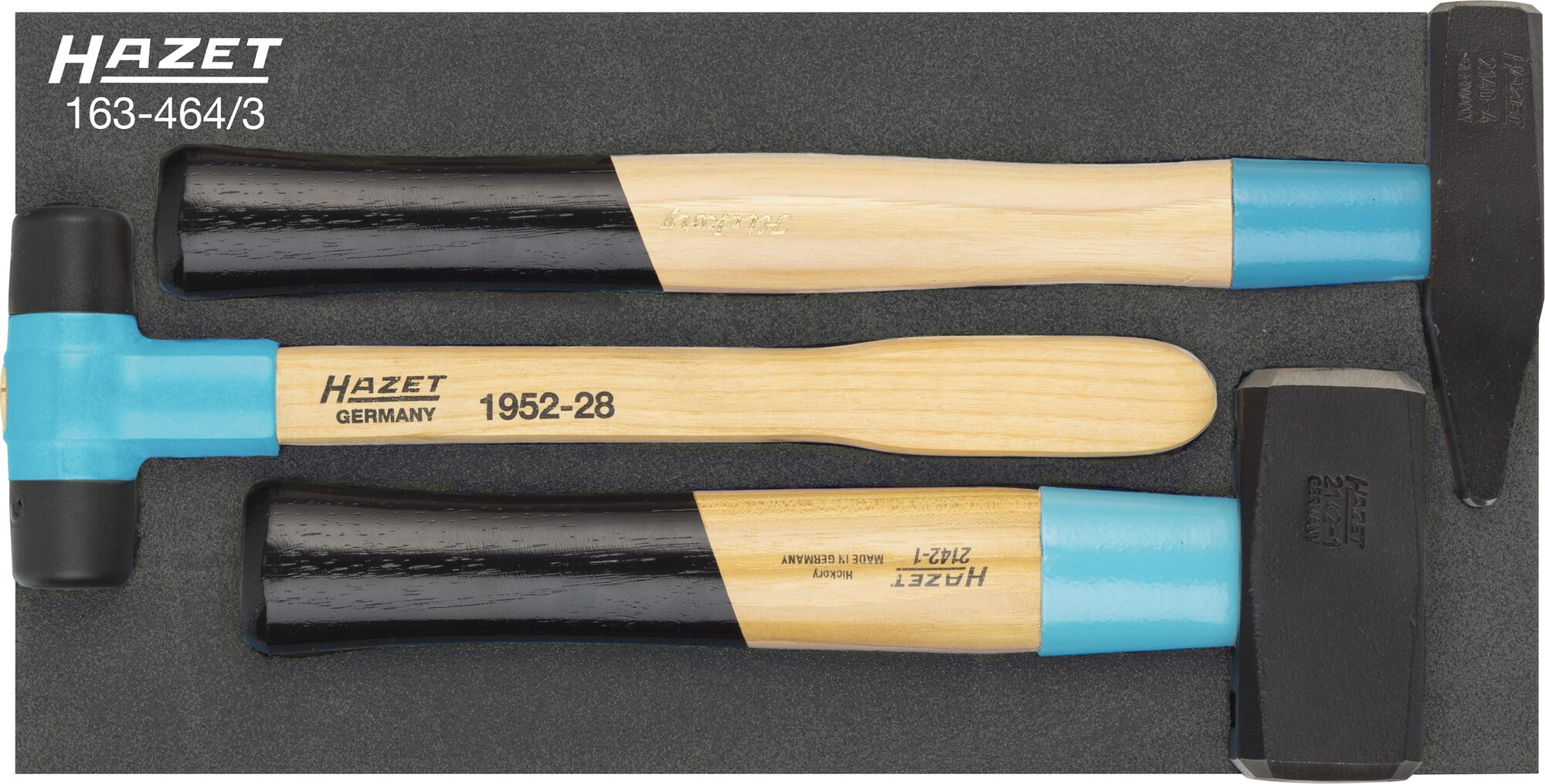 HAZET Hammer Satz 163-464/3 ∙ Anzahl Werkzeuge: 3