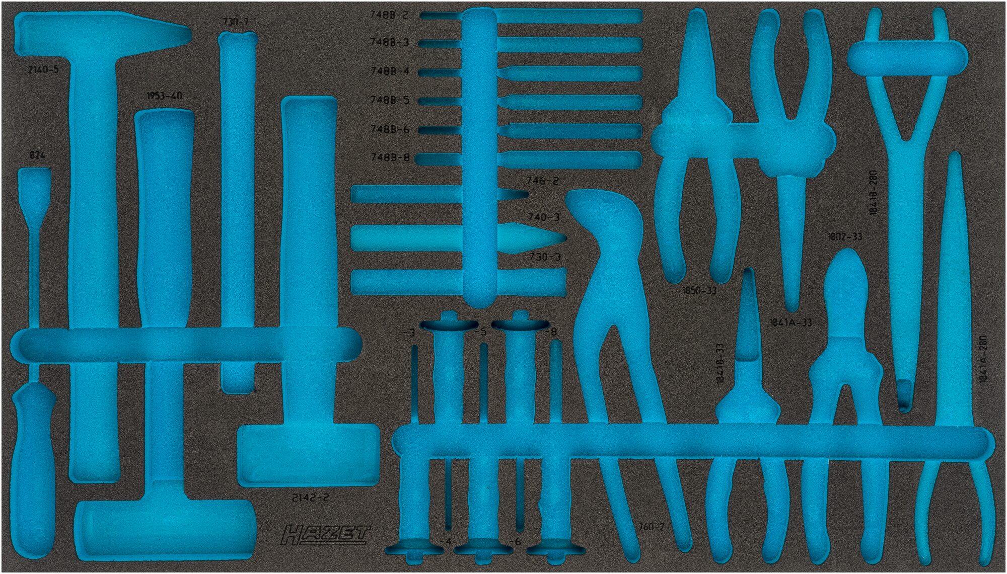 HAZET 2-Komponenten Weichschaum-Einlage 163-479L